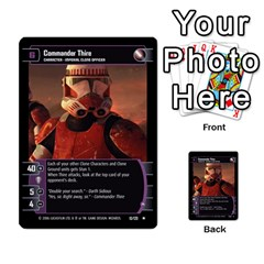 Star Wars Tcg Ii By Jaume Salva I Lara   Multi Purpose Cards (rectangle)   78rjzmm60ppz   Www Artscow Com Front 20