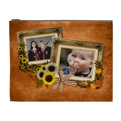 Autumn Delights   Cosmetic Bag (xl)  By Picklestar Scraps   Cosmetic Bag (xl)   Z835rdlcd10d   Www Artscow Com Front