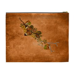 Autumn Delights   Cosmetic Bag (xl)  By Picklestar Scraps   Cosmetic Bag (xl)   Z835rdlcd10d   Www Artscow Com Back