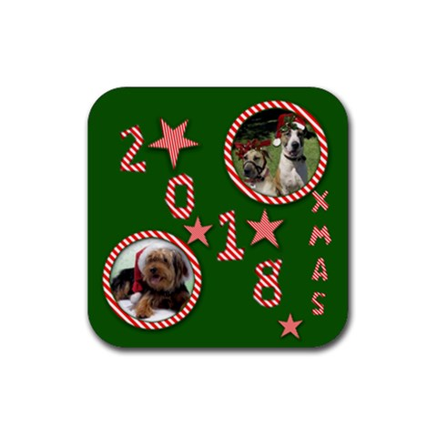 2012 Christmas Coaster By Deborah   Rubber Coaster (square)   Ioxo4i2p2b27   Www Artscow Com Front