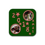 2012 Christmas Coaster - Rubber Coaster (Square)