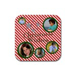 Christmas Wishes Coaster - Rubber Coaster (Square)