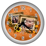 Autumn Delights - Wall Clock (Silver)