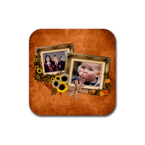 Autumn Delights   Rubber Square(4pack)  By Picklestar Scraps   Rubber Square Coaster (4 Pack)   Bm3kru99xf3w   Www Artscow Com Front