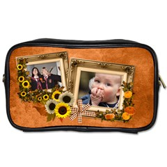 Autumn Delights   Toiletries Bag (two Sides)  By Picklestar Scraps   Toiletries Bag (two Sides)   Orl37iy15den   Www Artscow Com Front