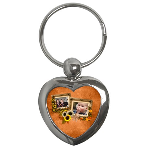 Autumn Delights   Key Chain (heart)  By Picklestar Scraps   Key Chain (heart)   Pctbg2er6lmo   Www Artscow Com Front
