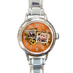 Autumn Delights - Round Italian Charm Watch
