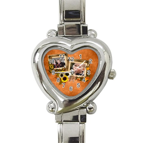 Autumn Delights   Heart Italian Charm Watch  By Picklestar Scraps   Heart Italian Charm Watch   Qhh41nlbkhjk   Www Artscow Com Front