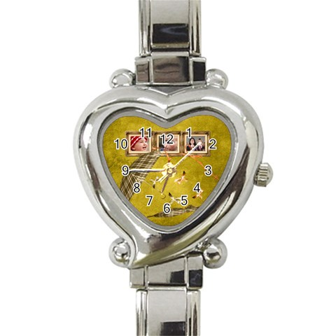 Autumn Delights   Heart Italian Charm Watch  By Picklestar Scraps   Heart Italian Charm Watch   Prb98m38gzeq   Www Artscow Com Front