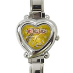 Autumn Delights - Heart Italian Charm Watch