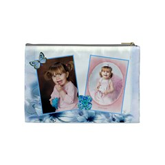 Pearls And Bow Cosmetic Bag By Katie Longbottom   Cosmetic Bag (medium)   S1i8erzd87qd   Www Artscow Com Back