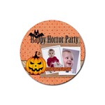 halloween - Rubber Round Coaster (4 pack)
