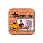halloween - Rubber Square Coaster (4 pack)