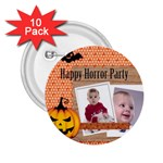happy halloween - 2.25  Button (10 pack)