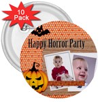 halloween - 3  Button (10 pack)