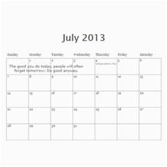 Carter Calendar By Carrie L  Thomas   Wall Calendar 11  X 8 5  (12 Months)   8lwsi57lyu7y   Www Artscow Com Jul 2013