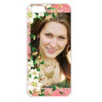 Floral Apricot Apple iPhone 5 Seamless Case (white)