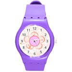 Flower watch - Round Plastic Sport Watch Medium