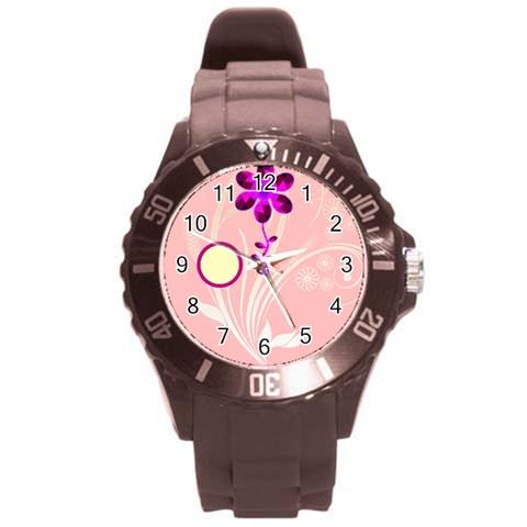 Purple Flower Watch By Birkie Front