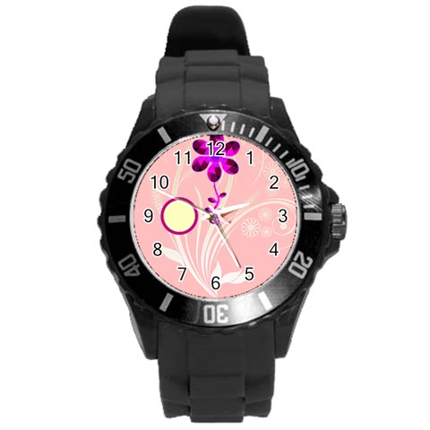 Purple Flower Watch By Birkie Front