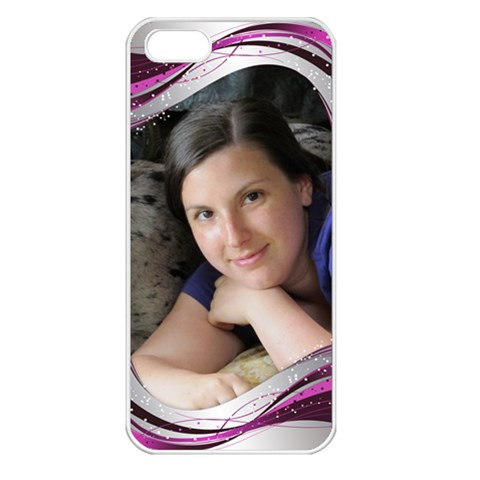Pink Wave Apple Iphone 5 Seamless Case (white) By Deborah   Apple Iphone 5 Seamless Case (white)   I9qvwzl30tr9   Www Artscow Com Front