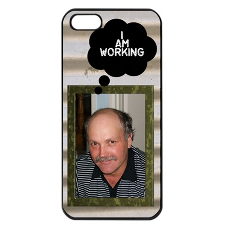 I Am Workin Apple Iphone 5 Seamless Case (black) By Deborah   Apple Iphone 5 Seamless Case (black)   7ll1p0n82ame   Www Artscow Com Front