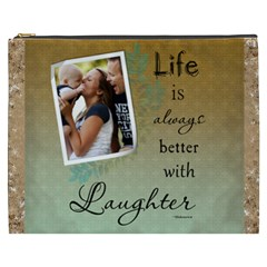 Laughter Xxxl Cosmetic Bag By Lil    Cosmetic Bag (xxxl)   Y1w221motf56   Www Artscow Com Front