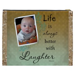 Laughter Xxxl Cosmetic Bag By Lil    Cosmetic Bag (xxxl)   Y1w221motf56   Www Artscow Com Back