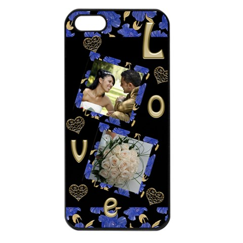Love Apple Iphone 5 Seamless Case (black) By Deborah   Apple Iphone 5 Seamless Case (black)   1olo5hrm65el   Www Artscow Com Front