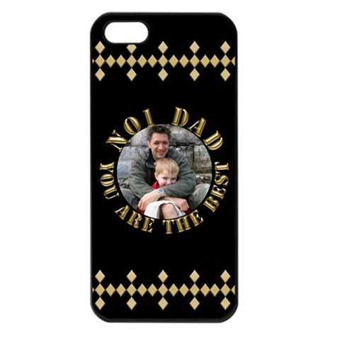Best Dad Apple Iphone 5 Seamless Case (black) By Deborah   Apple Iphone 5 Seamless Case (black)   Pszm6enu8pu2   Www Artscow Com Front