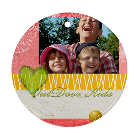 Kids By Joely   Ornament (round)   Dvguwam4s95a   Www Artscow Com Front
