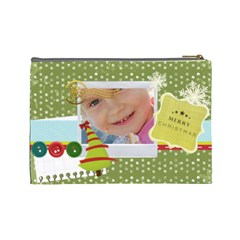Xmas By Jo Jo   Cosmetic Bag (large)   7hfs8y7znqp7   Www Artscow Com Back