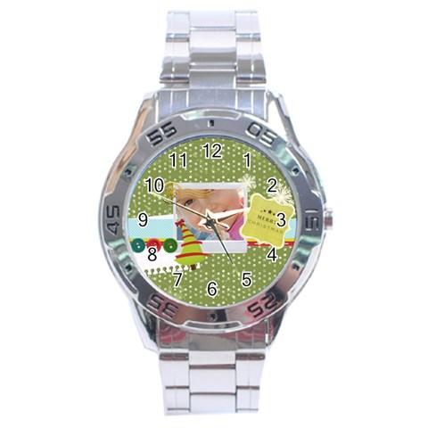 Xmas By Jo Jo   Stainless Steel Analogue Watch   7uri02k5bsut   Www Artscow Com Front