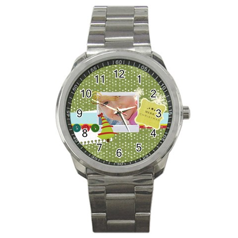 Xmas By Jo Jo   Sport Metal Watch   B8h1ang3lzhc   Www Artscow Com Front