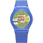 xmas - Round Plastic Sport Watch Small