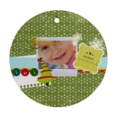 Xmas By Jo Jo   Round Ornament (two Sides)   Jb3m1i04c6jg   Www Artscow Com Back