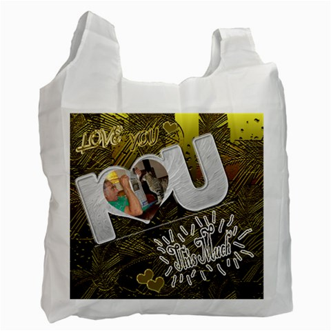 I Heart You Recycle Bag By Ellan   Recycle Bag (one Side)   J8bpr8xx1l4z   Www Artscow Com Front