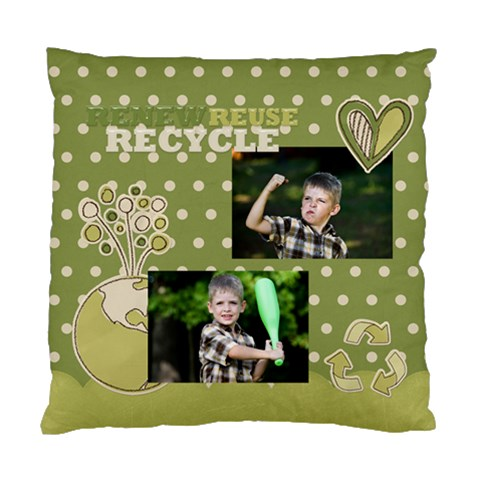 Green Kids By Angena Jolin   Standard Cushion Case (one Side)   5uhfqdp7fwml   Www Artscow Com Front