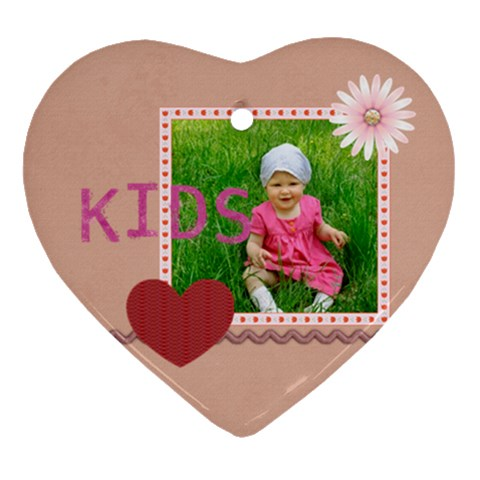 Love Of Kids By Jacob   Ornament (heart)   Aldqpxq9cism   Www Artscow Com Front