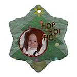 Ho Ho Ho Snowflake Ornament - Ornament (Snowflake)