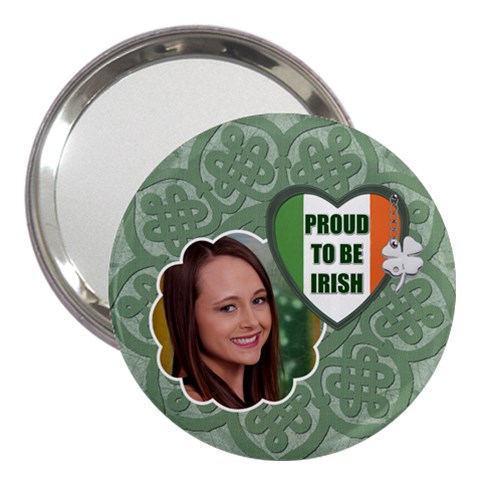 Proud To Be Irish 3  Handbag Mirror By Lil    3  Handbag Mirror   Ct10aenlq0w0   Www Artscow Com Front