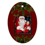 Christmas Oval Ornament (1 Sided) - Ornament (Oval)