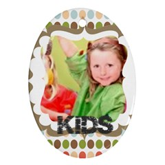 Kids By Mac Book   Oval Ornament (two Sides)   Acymzcvf98z7   Www Artscow Com Front