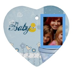 Baby By Jacob   Heart Ornament (two Sides)   Hta1dt1wfch3   Www Artscow Com Front