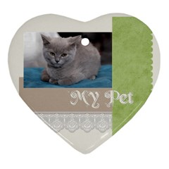 Pet By Jacob   Heart Ornament (two Sides)   W1y2t68dz3ig   Www Artscow Com Front