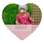 baby - Heart Ornament (Two Sides)
