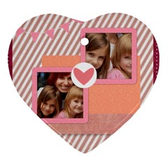 Girl By Jacob   Heart Ornament (two Sides)   C3w18eubbe5k   Www Artscow Com Back