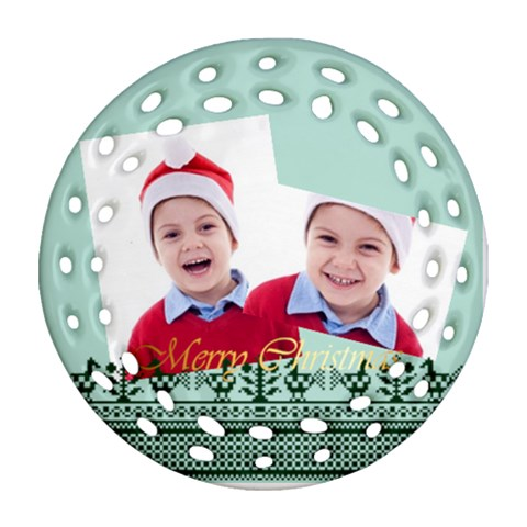 Christmas By Clince   Ornament (round Filigree)   Ik0jbvmm1jil   Www Artscow Com Front