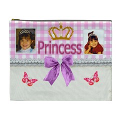 Princess Crown Cosmetic Bag (xl) By Kim Blair   Cosmetic Bag (xl)   5xqui6ssl4lv   Www Artscow Com Front