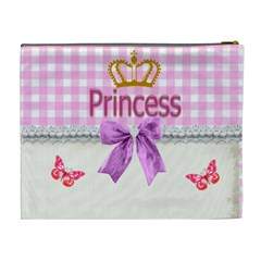 Princess Crown Cosmetic Bag (xl) By Kim Blair   Cosmetic Bag (xl)   5xqui6ssl4lv   Www Artscow Com Back
